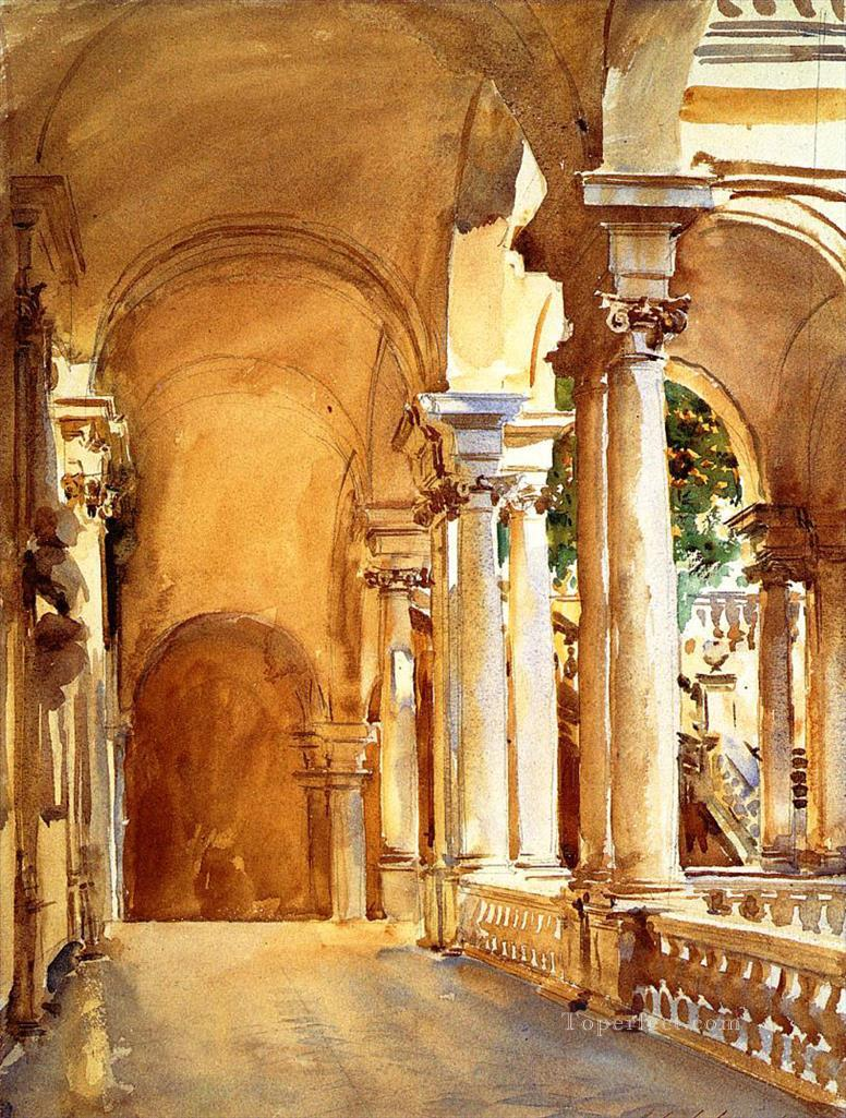 Genoa the University John Singer Sargent watercolor Oil Paintings