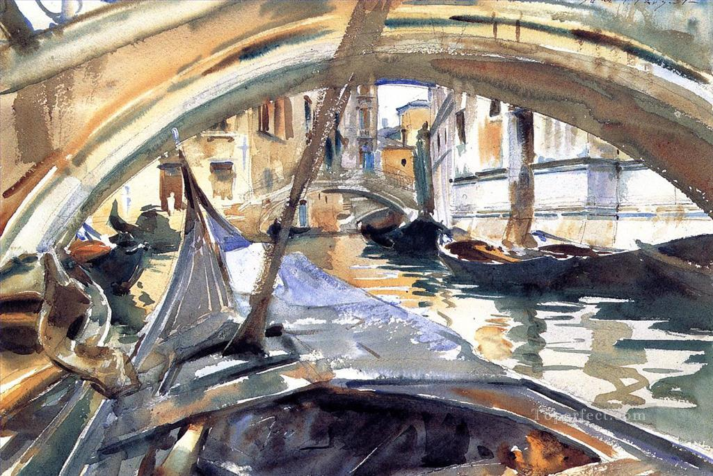 Rio de Santa Maria Formosa John Singer Sargent watercolor Oil Paintings