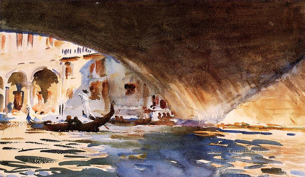 Under the Rialto Bridge John Singer Sargent watercolor Oil Paintings