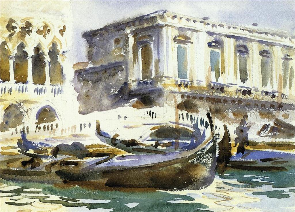 Venice The Prison boat John Singer Sargent watercolor Oil Paintings