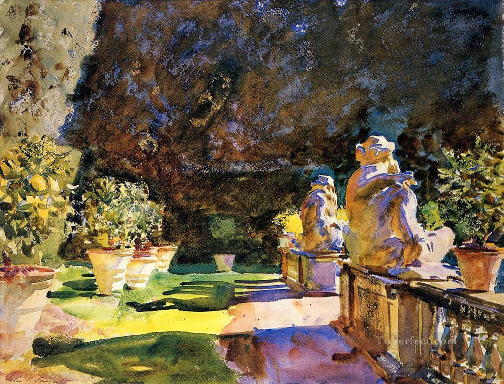 Villa di Marlia Lucca John Singer Sargent watercolor Oil Paintings