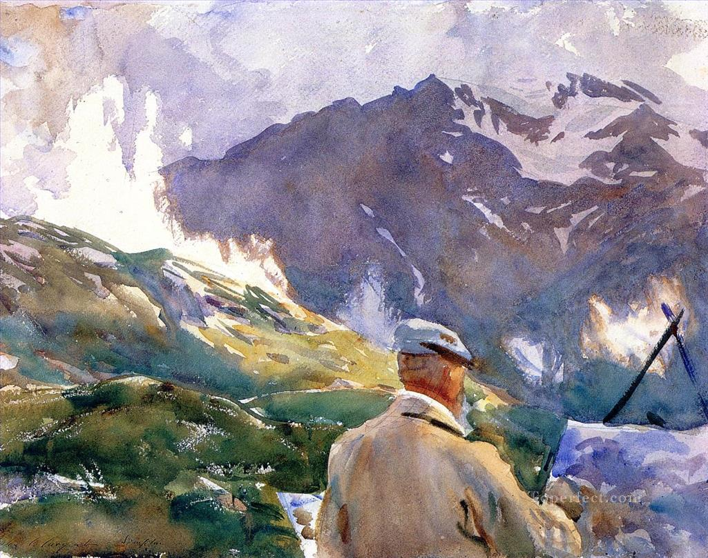 Artist in the Simplon John Singer Sargent watercolor Oil Paintings