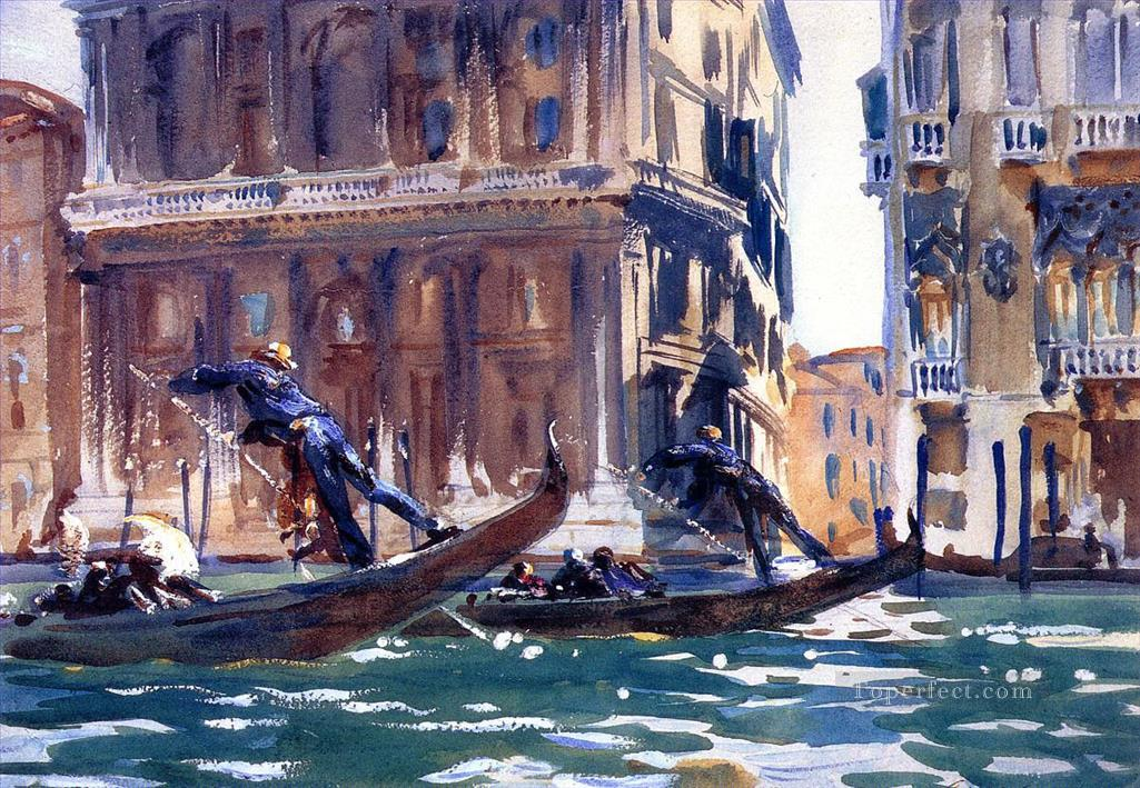 On the Canal John Singer Sargent watercolor Oil Paintings