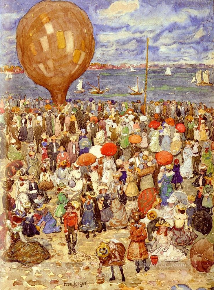 Maurice B The Balloon Maurice Prendergast watercolor Oil Paintings